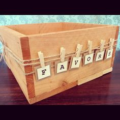FAVORS Bunting Banner / Sign for Your Wedding, Wedding Shower, Baby Shower or Birthday Party. $9.00, via Etsy.