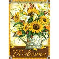Sunflowers and Callas Garden Flag
