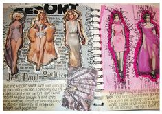 My Sketchbook Layout. : My Sketchbook Layout. A Level Textiles Sketchbook, Gcse Art Sketchbook, Fashion Design Sketchbook, Fashion Design Portfolio, Fashion Sketches, A Level Art Sketchbook Layout, Fashion Books, Fashion Art, Couture Fashion