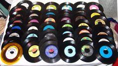 45 RPM  Vinyl Records Lot 54pcs LP  60s 70s 80s Retro Sleeves Rock Country