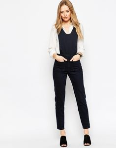 ASOS+Denim+Jumpsuit+with+Square+Neck+in+Blue+Black+Wash