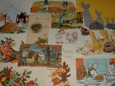 HAPPY THANKSGIVING and AUTUMN Vintage Paper Pack for Altered Art, Smash Books, Junk Journals and Collages Holiday Theme Kit  722 on Etsy, $10.00
