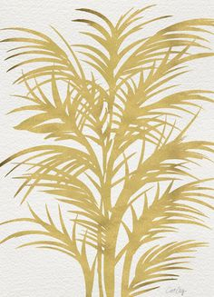 Gold Palms Art Print | Society6