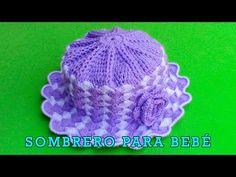 Sombrero tejido a crochet para bebé de 1 año y medio a 2 años paso a paso en punto abanicos - YouTube