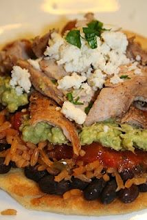 Chicken Tostadas With Black Beans And Cilantro-Lime Cream Recipe ...