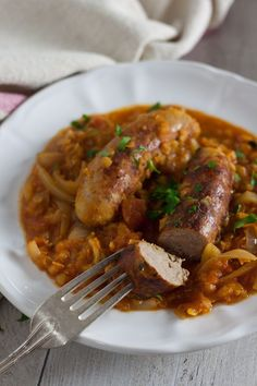 This one-pot sausage and red lentil casserole by Recipes Made Easy is easy to prepare, and quick to make. Ideall for a family weekday meal. Sausage Recipes, Pork Recipes, Slow Cooker Recipes, Cooking Recipes, Healthy Recipes, Recipies, Sausage Meals, Healthy Food, Beef Meals