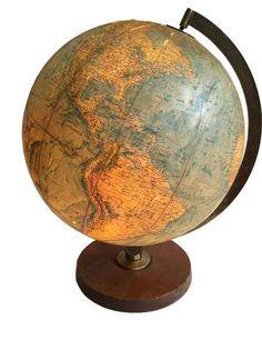 Replogle Mid-Century Light Up Globe on Chairish.com
