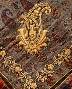 Termeh (square fabric with embroidery on the corners ..usually wrapping the gift to the bride in Iran)