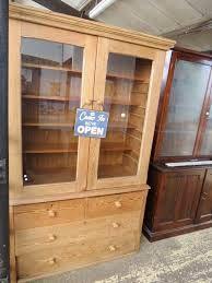 Image result for vintage dark oak display cabinets uk