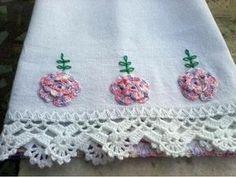 Lindos Bicos de crochê para panos de prato, toalhas, guardanapos e o que mais você quiser... Alguns com gráficos