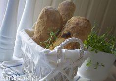 Rustikk eltefri baguetter Og så enkle og gode...