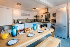 Our holiday homes are more like a luxury b&b than a stuffy hotel. Luxury, Kitchen, Table, Furniture, Home Decor, Cooking, Decoration Home, Room Decor, Kitchens