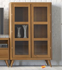 Mid Century Style, Kitchen Pantry, Retro, China Cabinet, Dining Room, Woodworking, Shelves, Storage, Book