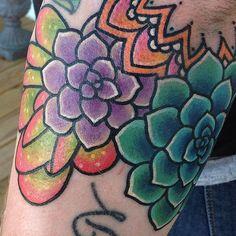 Succulents & elbow mandala! Thanks Valerie