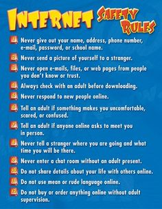 internet safety rules for children