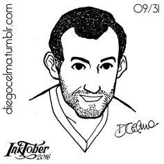 #InkTober Day 9: Fermín ✒ #InkTober2016 #drawing #illustration #illustrationoftheday #ink #inkdrawing #handmade #sketch #sketching #art #Fermin #bae #guy #portrait #scruff #10years #silver #sexy #ears #smirk #partner  https://www.facebook.com/diegocelmailustrador/