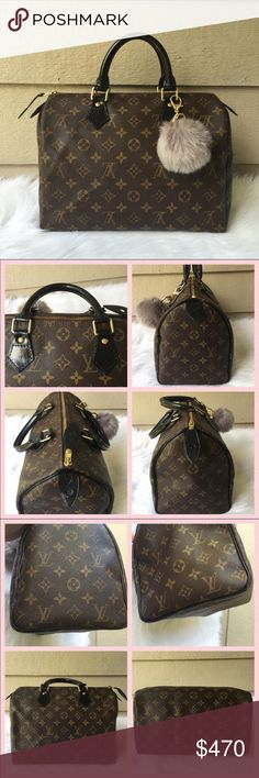 Louis Vuitton Speedy 30 Monogram In good condition, 100% authentic money back guarantee! Outside vachetta leather (handles and piping) hand-painted with black leather paint and sealed with resolene (to provide gloss and protection to the painted leather) Inside in clean, normal signs of used - little tarnishing on the metal parts/hardware. Pls ask before purchase, I can provide detailed pictures upon request. Date Code: TH0050 ❌ No TRADES ❌ Lower Price thru Mercri Louis Vuitton Bags Satchels