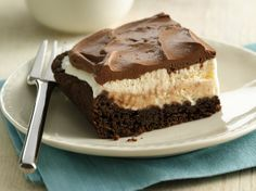 Mud Slide Ice Cream Cake.The popular restaurant mud slide drink with coffee and chocolate is transformed into an easy freezer dessert.