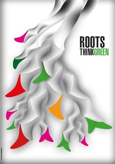 Roots - Think Green - Graphis