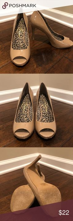 Jessica Simpson open toed heels Lightly worn  for work. Worn at an office maybe a handful of times. Jessica Simpson Shoes Heels