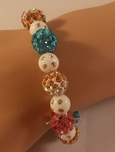 Women's Multicolor Stretch Bracelet by DaisysCrystals on Etsy