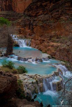 Beaver Falls in Havasu Canyon on the Havasupai Indian Reservation. bearfoottheory.com