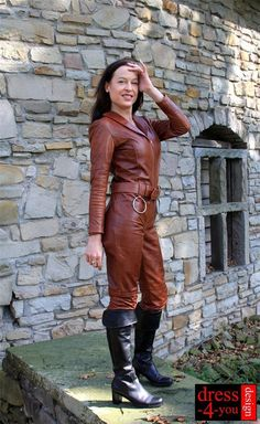 Leder Overall Catsuit Lederoverall Body 21-br Jumpsuite Anzug Countrysuit S 36 | eBay