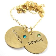 Handstamped  Necklace  Personalized Necklace  by SariGlassman, $58.00