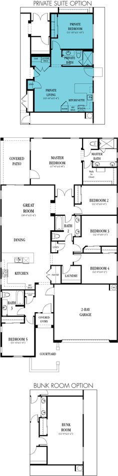 4075-Clark - 2,207 sq. ft / 5 bedrooms / 3 bathrooms (including an optional private suite!)