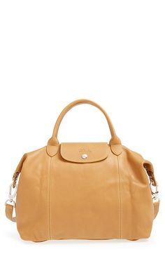Longchamp Le Pliage Cuir Leather Handbag  ad505c9e6f90b