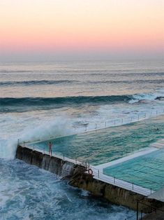 Bondi Icebergs Club Pool in Sydney, Australia Oh The Places You'll Go, Places To Travel, Travel Destinations, Places To Visit, The Beach, Beach Pool, Bondi Icebergs, To Infinity And Beyond, Tasmania