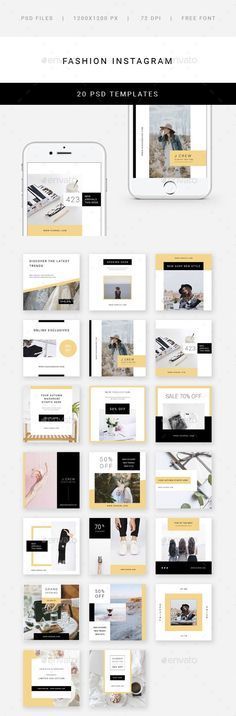 Fashion Instagram - 20 Designs - Social Media Web Elements