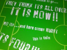 1966 World Cup - They Think its all Over- Kenneth Woolstenholme - Football - Soccer - Hurst