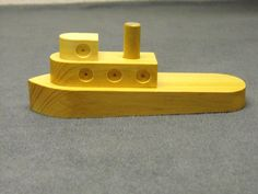 Wooden Toy Boat by CraftyWoodenCreation on Etsy