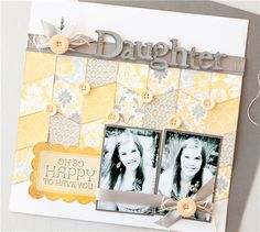 #papercraft #scrapbook #layout    Project Center - Daughter Layout