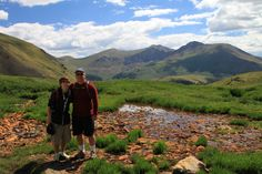 We started at the top of Guanella Pass, 11,600 feet and followed the South Park Trail up 600 feet through high-alpine scenery to Square Top Lakes...