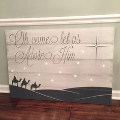 Isaiah with Nativity Christmas Sign by DRSignsDesigns on Etsy Holiday Signs, Christmas Signs, Christmas 2017, Christmas Art, Christmas Projects, Winter Christmas, Holiday Crafts, Holiday Fun, Christmas Decorations