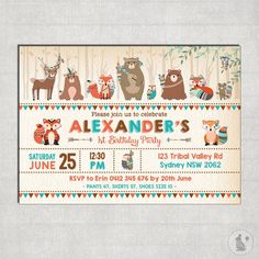 Woodland Decor, Woodland Party, Animal Birthday, Birthday Diy, Pow Wow Party, Tribal Animals, Indian Boy, Blue Bunny, Woodland Creatures