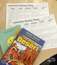 Prevent the summer slide with summer reading review for the 4th and 5th grade students. Works with any fiction and nonfiction book. Read more on this post.