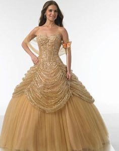 Gold Wedding Gowns | gold ball gown shop, custom gold ball gowns designer--21century Bridal