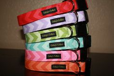 Chevron Dog Collars The Chevrons You Pick Red by ColeysCollars, $16.95