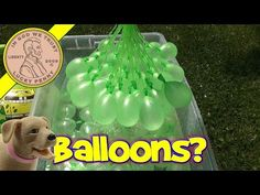 Bunch O Balloons....make 100 water balloons in less than a minute! - YouTube