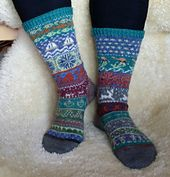 Ravelry: Scrap Yarn Sock Advent Calendar pattern by Anna Johanna