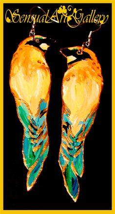 Kolczyki - malowane ptaszki