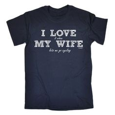 From 8.94 I Love It Wife Cycling M Navy Tshirt