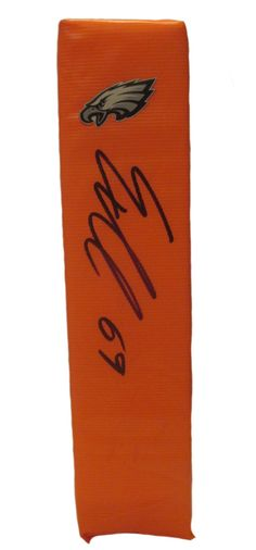Evan Mathis Autographed Philadelphia Eagles Full Size Football End Zone Touchdown Pylon. This is a brand-new custom Evan Mathis signed Philadelphia Eagles full sizefootball end zone pylon. This pylon measures 4inches (Width) X 4inches (Length) X 18inches (Height). Evan signed the pylonin black sharpie.Check out the photo of Evan signing for us. ** Proof photo is included for free with purchase. Please click on images to enlarge. Please browse our websitefor additional NFL & NCAA…
