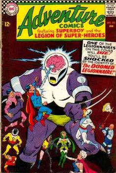 Adventure Comics silver age cover image | Element Girl debuts in Metamorpho #10 .