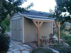 Covered storage, so won't count against square footage [Utah Storage Sheds | Wright's Shed Co. ]