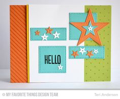 Diagonal Stripes Background, Photo Booth, Swiss Dots Background, Blueprints 24 Die-namics, Pierced Star STAX Die-namics, Stitched Rectangle STAX Die-namics - Teri Anderson  #mftstamps