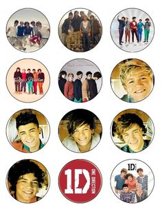 12 Edible 1 Direction cupcake or cookie toppers Edible Image. $6.50, via Etsy.